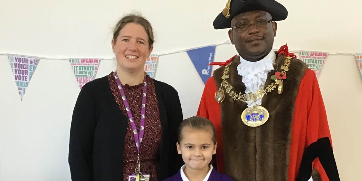 Pupils stage their own election and have a visit from the Mayor of Medway